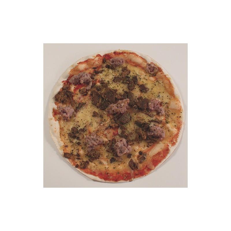 Pizza de botifarra i rovellons